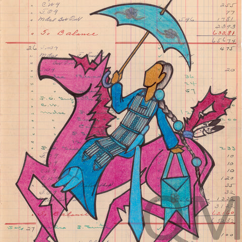 Ledger Art - Fancy Rider