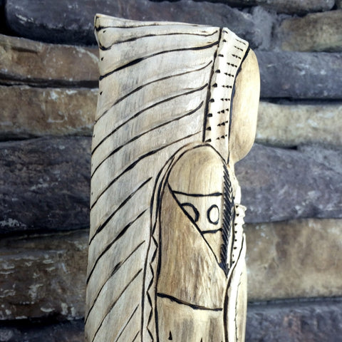 Carved Cottonwood Chief Yellow Horse