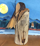 Sioux Wood Carving