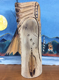 Oglala Lakota Wood Carving