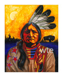 Sitting Bull #1 - Acrylic on Canvas
