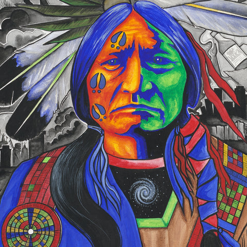 Sitting Bull #2 - Acrylic on Canvas