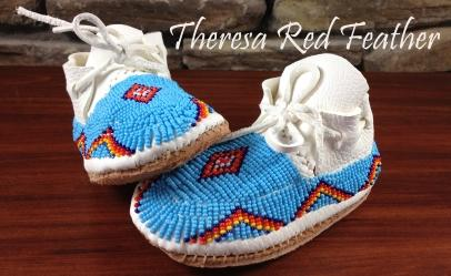 Oglala Lakota Beaded Moccasins
