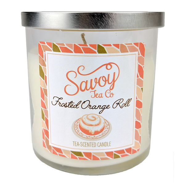 Tea Candle 8oz - Frosted Orange Roll