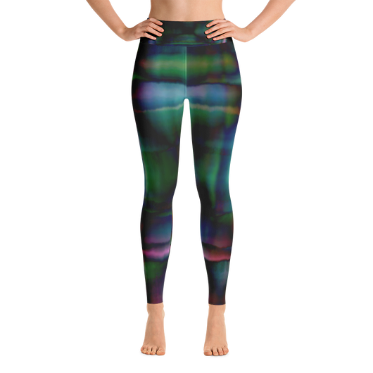 Yoga Leggings - Watercolor Madness