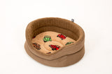 Round Suede VW Volkswagen Dog Bed