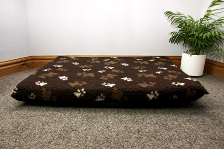 Paw Print Fleece Dog Mats