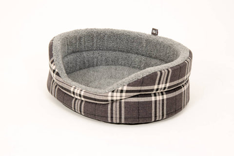 Glencoe Collection Round Checked Dog Bed