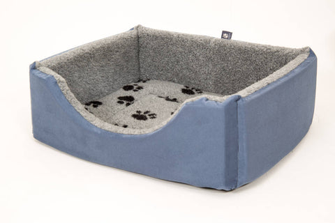 Square Suede Dog Bed