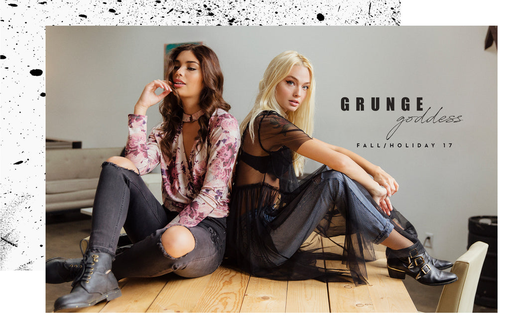 Taylor & Sage Grunge Goddess Fall & Holiday 17 Lookbook