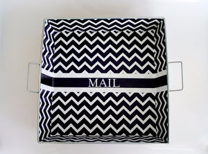 Black Chevron Big Tray