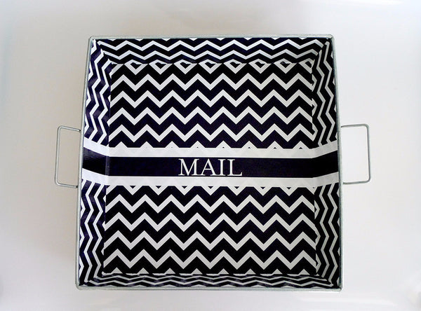 "Big Tray - Black Chevron ""Mail"""