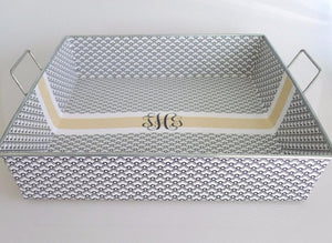 Scallops + Fancy Monogram Big Tray