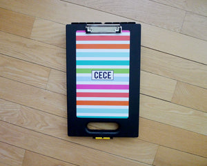 Black Clipcase - Multi Stripes