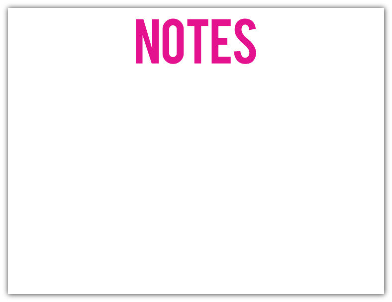NOTES Bold Hot Pink