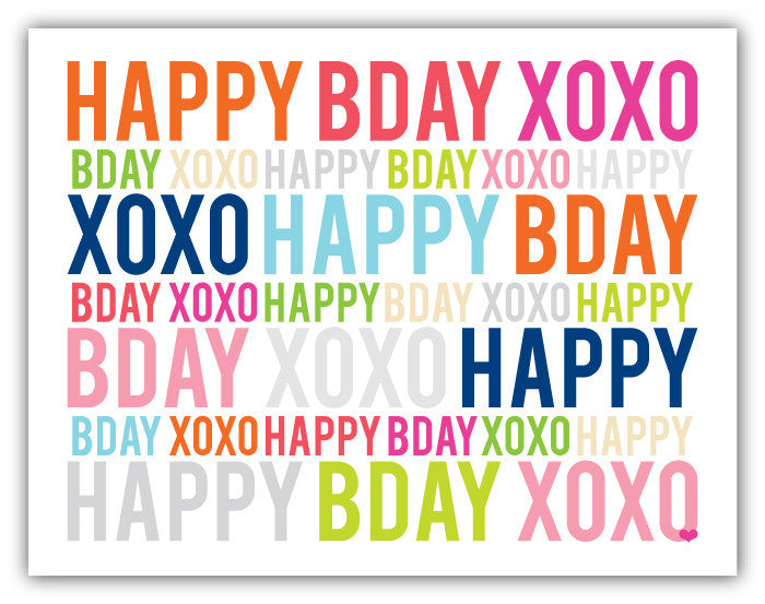 Birthday XOXO Classic Card