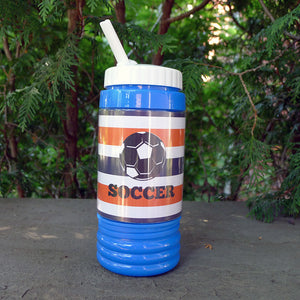 Kids Water Bottle - Soccer