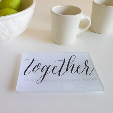 Together is My Favorite Place to Be Small Trinkets Tray