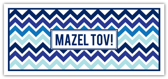 Mazel Chevron Ombre Blues Long
