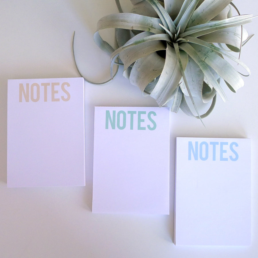 Notepad - Bold NOTES Light