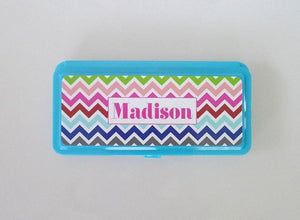 Pencil Box - Multi Chevron