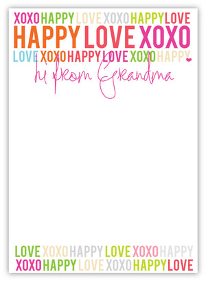 Happy Love XOXO Grandma Pad