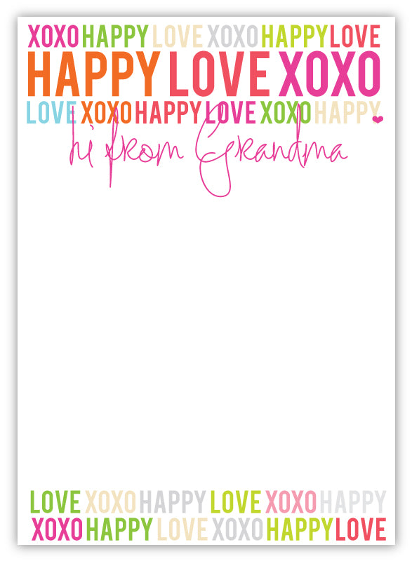 Camp Pad - Happy Love XOXO Grandma