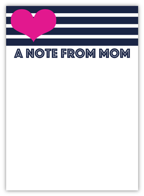 Heart + Stripes Mom Pad
