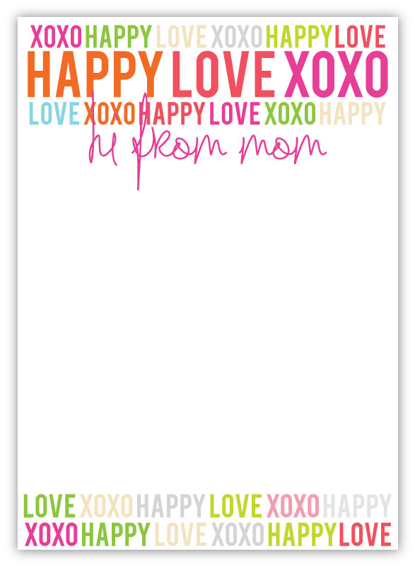 Camp Pad - Happy Love XOXO Mom
