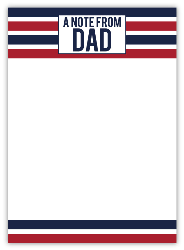 Camp Pad - Hi From Dad Stripes