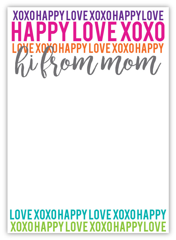 Camp Pad - Happy Love XOXO Too Mom
