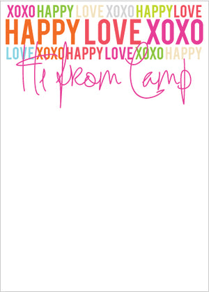 Happy Love XOXO Camp Pad