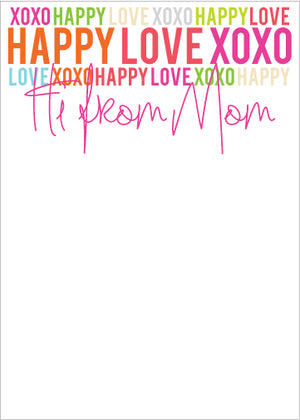 Happy Love XOXO Mom Pad