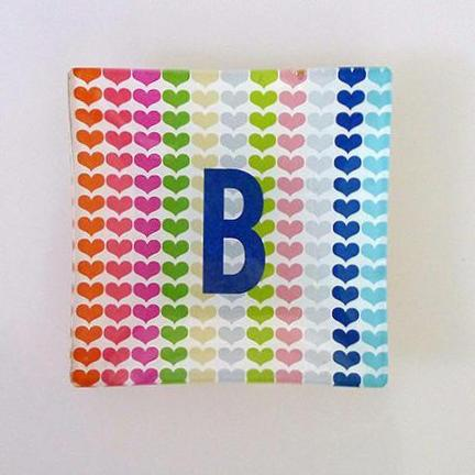Mini - Lots of Hearts with Bold Initial