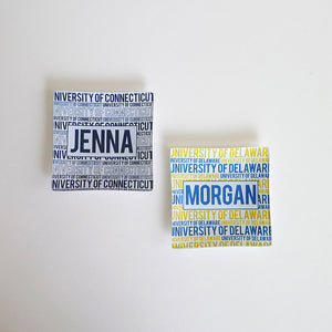 University Personalized Mini Trinkets Tray