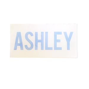 Light Blue Bold Personalized Tray