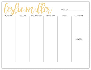 Weekly Deskpad - Gold