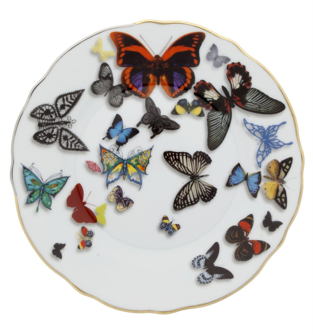 Butterfly Parade Bread Plate