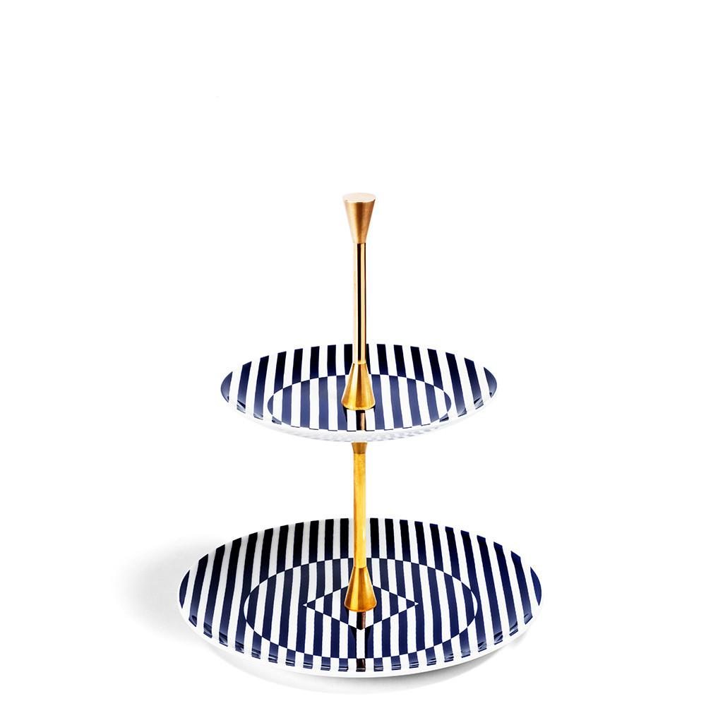Superstripe 2 Tier Cake Stand