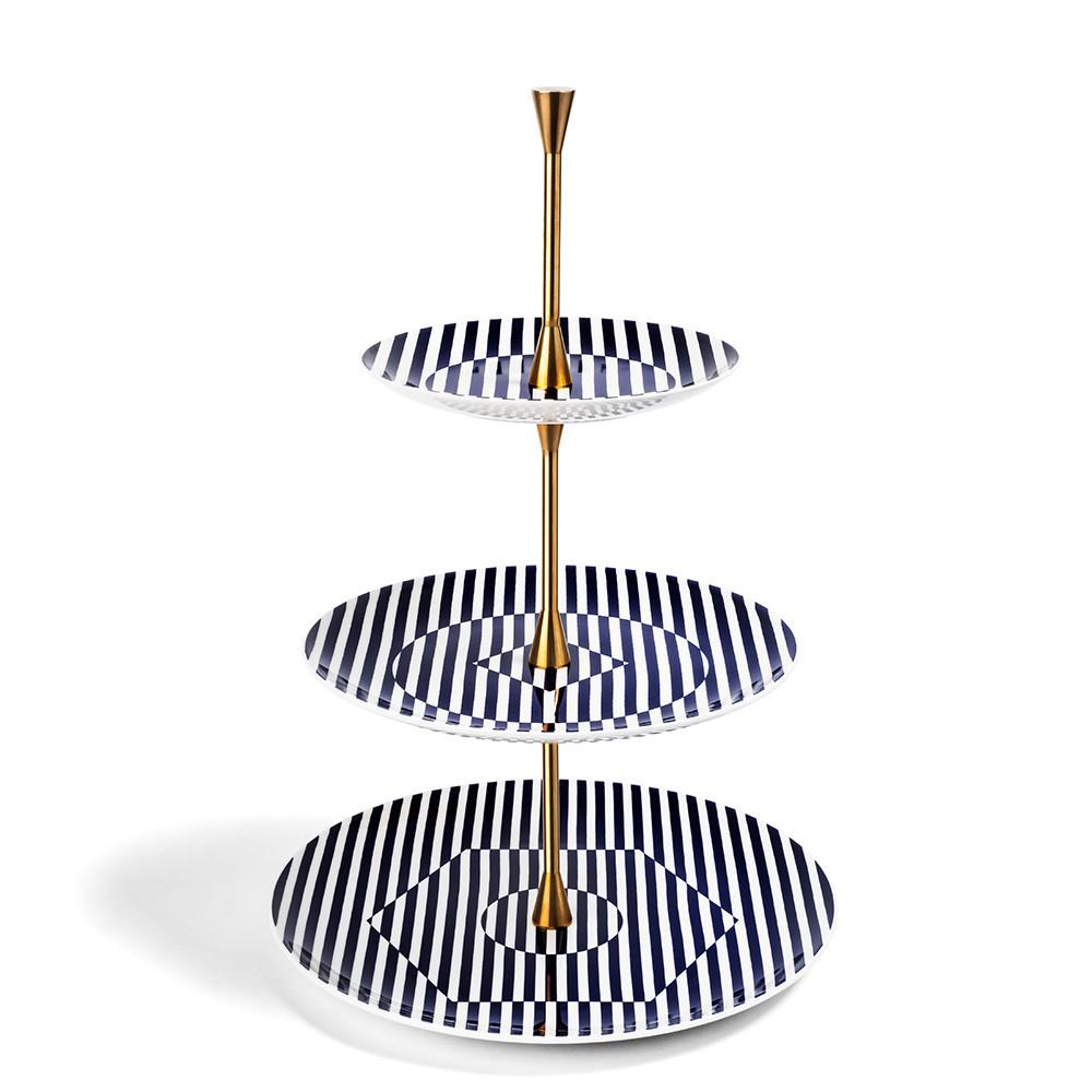 Superstripe 3 Tier Cake Stand