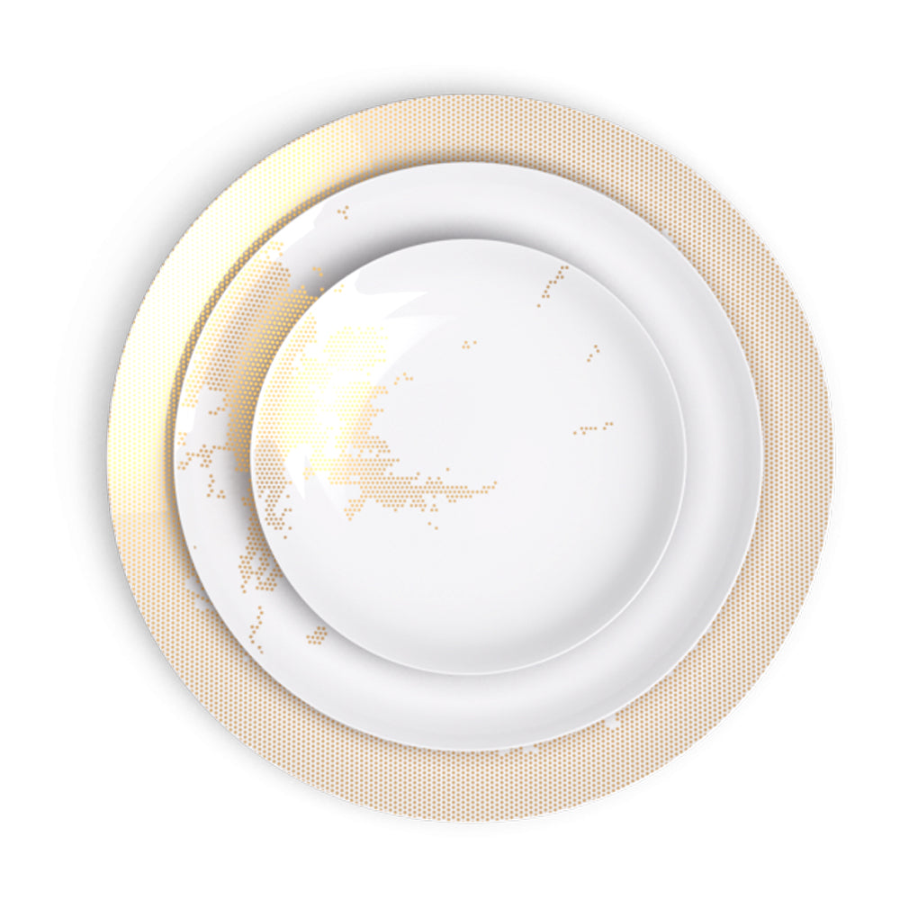 Avant Ici Maintenant Gold Dinner Plate
