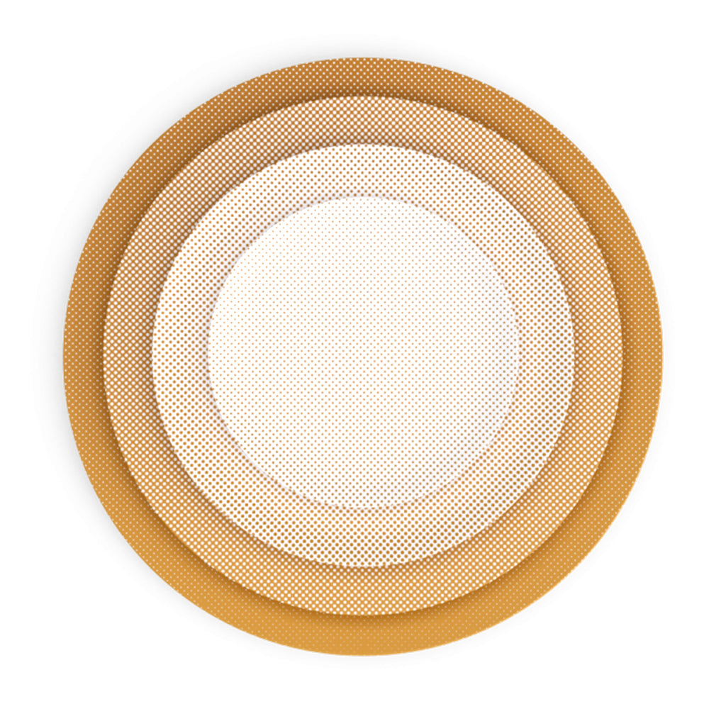 Eye Light Gold Bread Plate