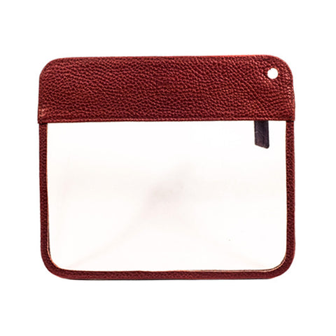 Oxblood Leather Toiletry Bag