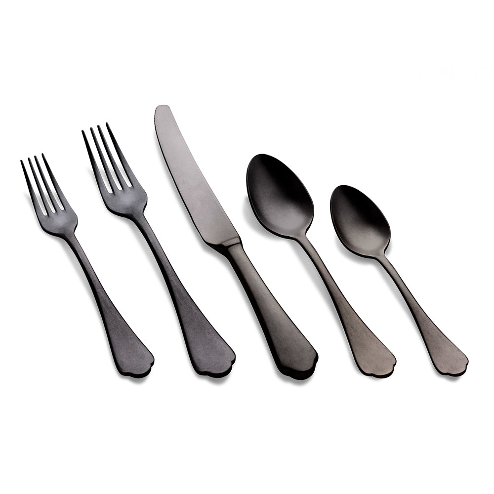 Dolce Vita Flatware - Black Pewter