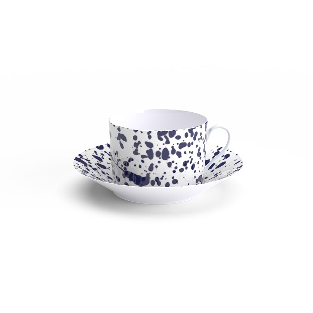 Magma Black Breakfast Cup & Saucer