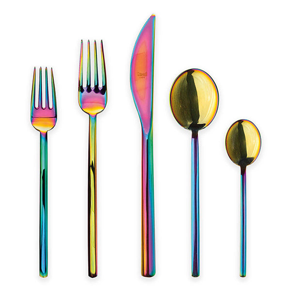 Due Rainbow Flatware Set