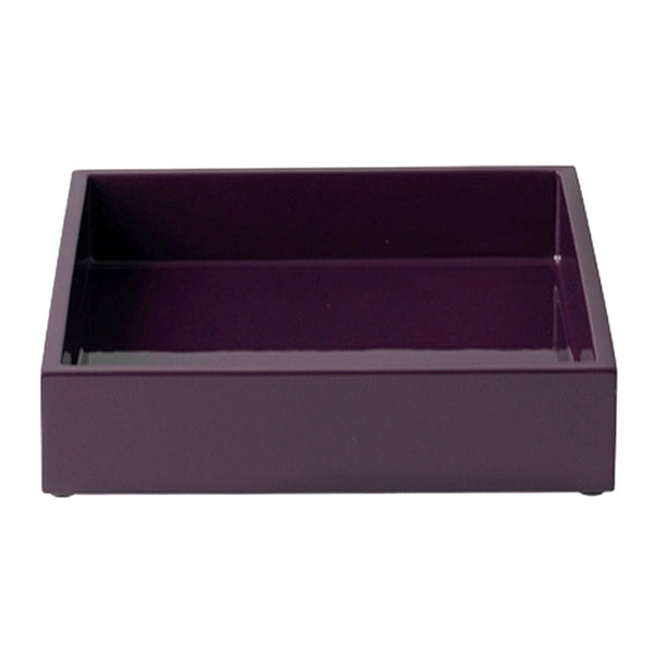 Lacquer Tray In Plum