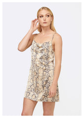 MVN 'Power Play' Mini Dress in Cream