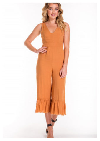 Style State 'Tianna' Jumpsuit in Burnt Orange