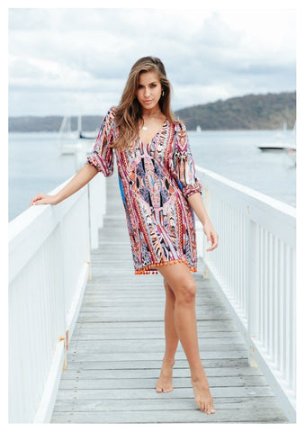 Jaase 'Lake' Dress in Aura Print